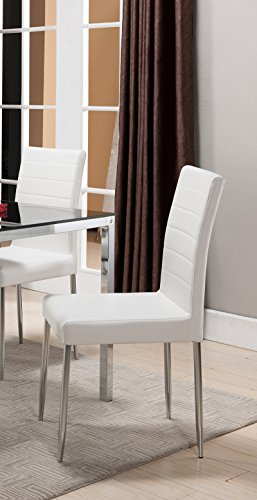 K & B Furniture Belmont White Dining Chair – Set of 4