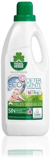 Detergente ropa bebe ECO Trébol Verde 1,5 L: Amazon.es: Hogar