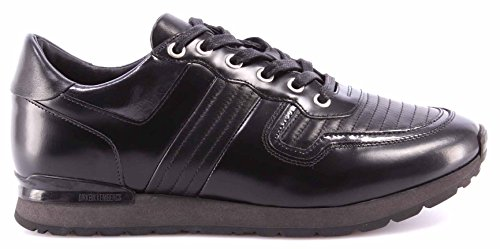 Zapatos Hombres Sneakers BIKKEMBERGS BKE108232 Mant 380 Leather Brushed Negro
