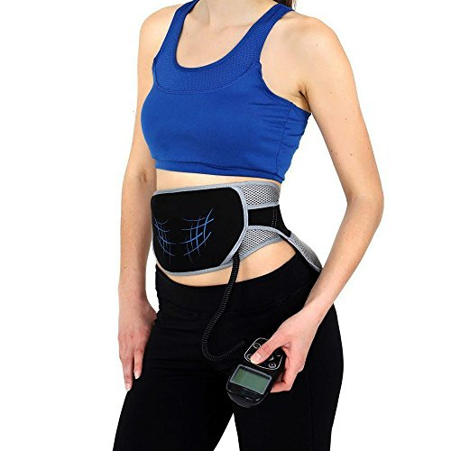 PU Health Pure Acoustics Active Flex Abdominal Muscle Training Belt, Black, 294.83 Gram by PU Health