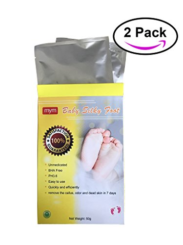 (MyM Exfoliating Foot Mask Peeling Feet Masks, Exfoliating Scrub, Whitening and Moisturizer, Clear Foot Odor, Remove Callus and Dead Skin, Result in 7 Days (IMPROVED) 2 Pairs)