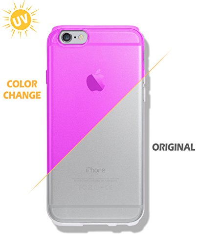 iPhone 6S / 6 Case [Color Changeable Case under Sunshine] [Expressing 2 different mood] Extra Side Protect [ TPU ] Dotted Back Cover For Apple iPhone6 / iPhone6S (Magenta Pink)