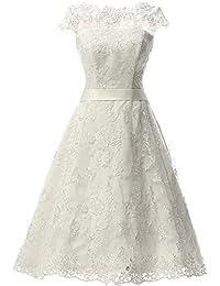 knee length wedding dress lace