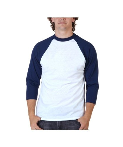 eve men's or youth baseball t-shirt,X-Large,white-navy blue ()