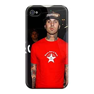 Iphone 4/4s Hlz10339JEKR Custom Realistic Blink 182 Band Pattern Shock Absorbent Hard Phone Cover -AaronBlanchette