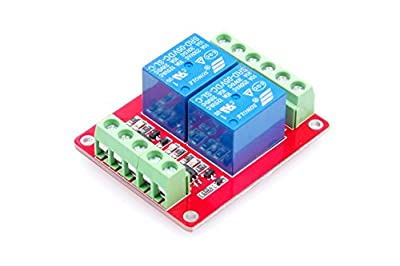 LM YN 2-Channel Relay Module Bidirectional Optocoupler Isolated High-Low Trigger With Indicator light for Arduino, Various Power Control Applications