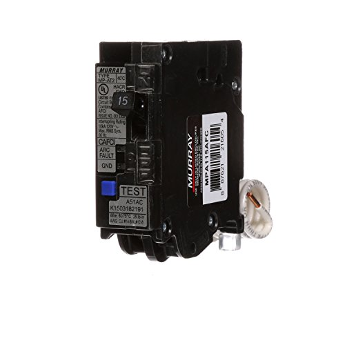 Murray MPA115AFC 15-Amp Single Pole 120-volt Plug-On Combination AFCI Breaker (Ge Single Breaker Pole Circuit)