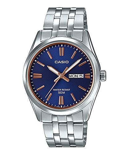 (Casio MTP1335D-1A2V Men's Stainless Steel Black Dial Analog Day Date Dress Watch)