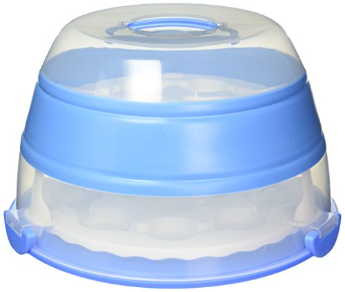 Prepworks by Progressive Collapsible Cupcake & Cake Carrier, Holds 24 Cupcakes