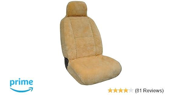 Eurow Luxury Sheepskin Seat Cover XL Design Comfortable Premium Pelt -  Champagne