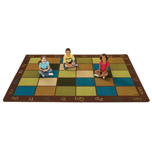 Carpets for Kids 18112 Nature's Colors Seating Kids Rug Size x 12' x, 7'6'' X12' , Multicolored by Carpets for Kids
