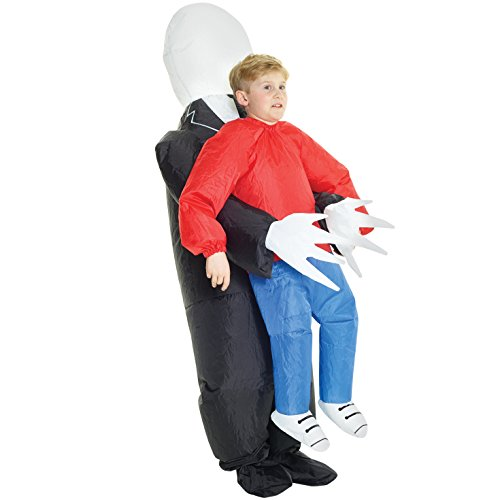 Kids Slenderman Pick Me Up Kids Inflatable Blow Up Costume