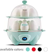 Dash DEC012AQ Deluxe Rapid Egg Cooker: Electric, 12 Capacity for Hard Boiled, Poached, Scrambled, Omelets, Steamed Vegetable