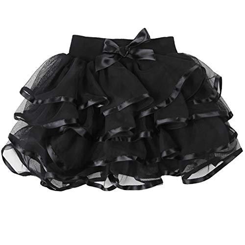 (storeofbaby Baby Tutu Skirt for Girls Evening Dance Pettiskirt Holiday Photography Costume Black)