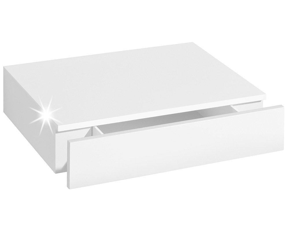 Großartig Hängeregal Weiß Hochglanz Ideen Von Wandregal Mit Schublade | Casseto | 45x25x8