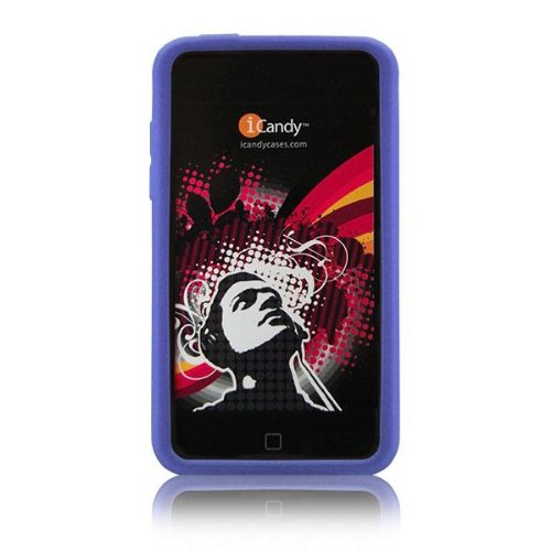 Silicone 3g Touch (iCandy Case for 2nd & 3rd Generation iPod touch 2G 3G - BLUE)