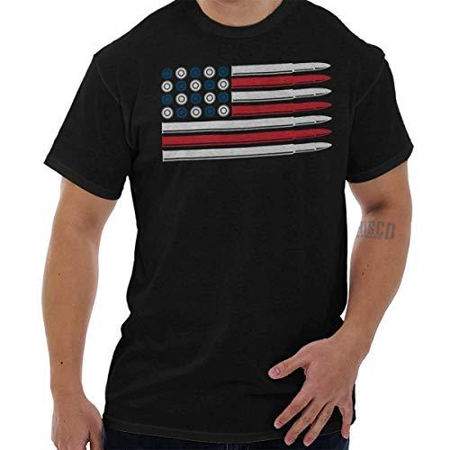 (Brisco Brands Ammo Flag Patriotic American 2nd Amendment T Shirt Tee)