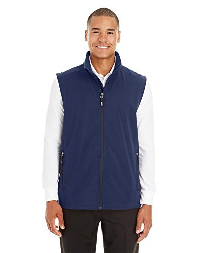 (Ash City Men's Cruise Two-Layer Fleece Bonded Soft Shell Vest - CLASSC Navy)