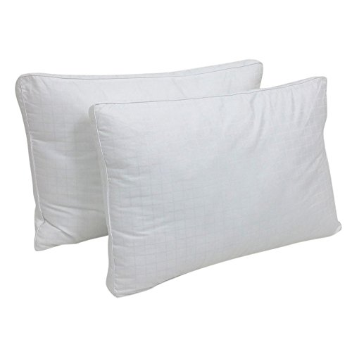 Web Linens Inc Set of 2 - HQ - Down Alternative Pillow Inserts - 100% Cotton Dobby Fabric - Standard Size - Exclusively by Blowout Bedding RN# 142035