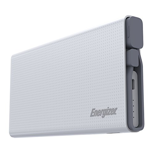 - Energizer UE10004QC 10000mAh 2.1A Quick Charge 3.0 ABS Lithium Polymer Power Bank for Smartphones and Tablets, White