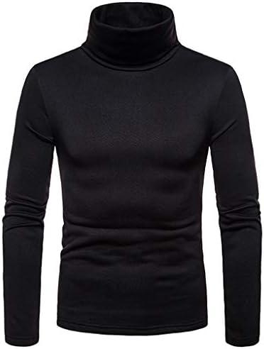 ff867a68b0fc Meidefafa Men's Turtleneck Full Sleeve T Shirt Cotton Blend High Neck Plain  Slim Fit T-