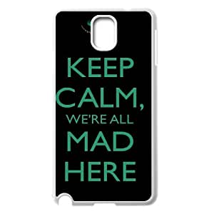 Chinese We're All Mad Here DIY Cover Case for Samsung Galaxy Note 3 N9000,customized Chinese We're All Mad Here Phone Case