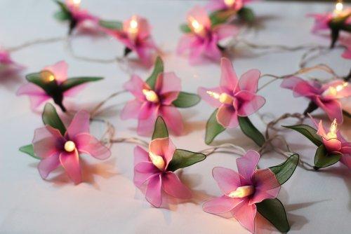 20 Pink Orchid Flower Thai Vintage Handmade light decoration patio Christmas, Xmas Wedding party by DAUNGJAIHANDMADE