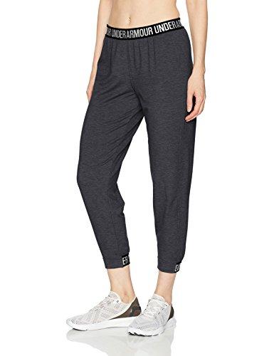 Under Armour Women's Featherweight Fleece Pants, Black (001)/Graphite, Small