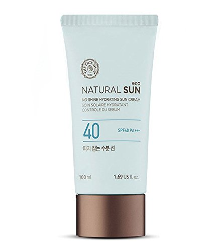 [The Face Shop] Natural Sun Eco No Shine Hydrating Sun Cream 100mL(3.3 Fl. - Shops Sun