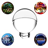 SunAngel 80mm/3inch,K9 Clear Crystal Ball Globe with Free Crystal Stand for Feng Shui/Divination or Wedding/Home/Photography or Office Decoration (80MM with Crystal Stand)