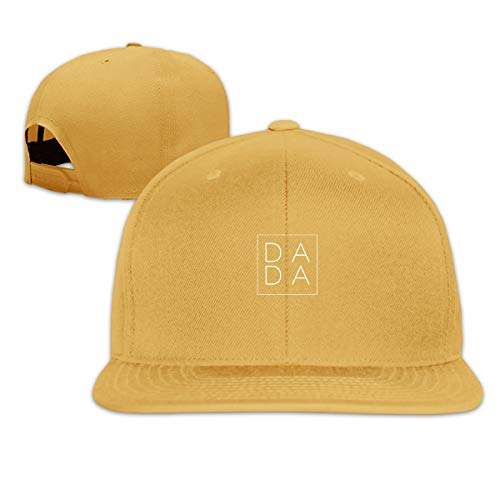 Unisex Fashion Simple Letter Dada Baseball Caps Buckle Design Adjustable Trucker Hat - Hat Yellow 59fifty Fitted