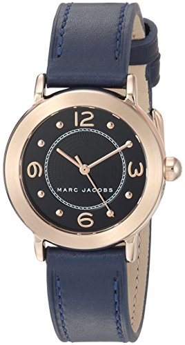 Marc Jacobs Women's 'Riley' Quartz Stainless Steel and Leather Casual Watch, Color:Blue (Model: MJ1577)