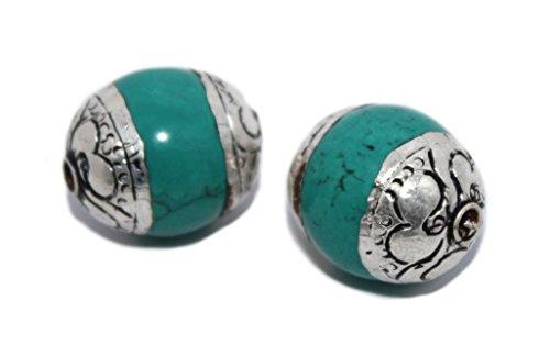 - Handmade beads Nepalese beads Tibetan beads Turquoise Beads B264