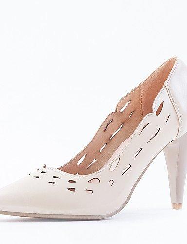 GGX/ Damenschuhe-High Heels-Büro / Kleid-Kunstleder-Stöckelabsatz-Absätze / Spitzschuh-Rosa / Weiß / Mandelfarben pink-us5.5 / eu36 / uk3.5 / cn35