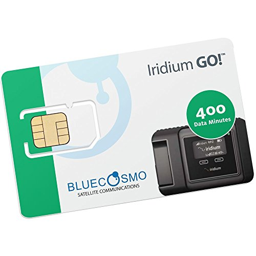 BlueCosmo Satellite Iridium GO! 400 Data Minute 6 Month Prepaid Card by BlueCosmo