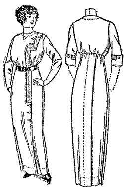 1912 Costumes The Titanic (1912 Ladies' Costume Pattern)