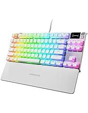 SteelSeries Apex 7 TKL Ghost - Mechanisch gamingtoetsenbord - Slim OLED-display - Stille, lineaire schakelaars - Spuitgegoten PBT-keycaps in Pudding-Style - Amerikaanse QWERTY-indeling