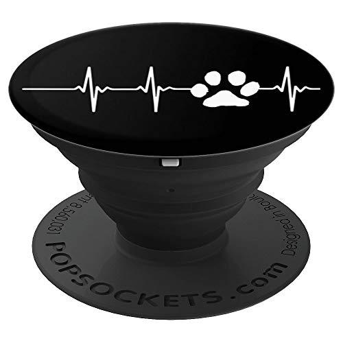 CocomoSoul-Mobile Dog Cat Pet Paw EKG PopSockets Stand for Smartphones and Tablets - PopSockets Grip and Stand for Phones and Tablets