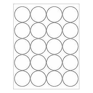 12 sheets 240 2 blank white round circle printable stickers for inkjet laser. Black Bedroom Furniture Sets. Home Design Ideas