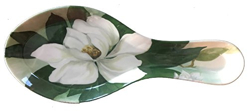 - Spoon Rest - Many Styles - Durable Melamine Plastic (Spoon Rest (9.75x4) in, Magnolia)