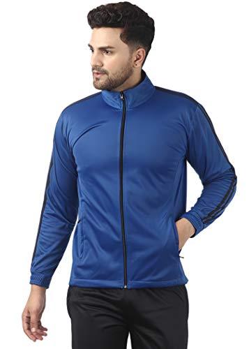 Gag Wears Polyester Blend Solid Superpoly Jacket For Men