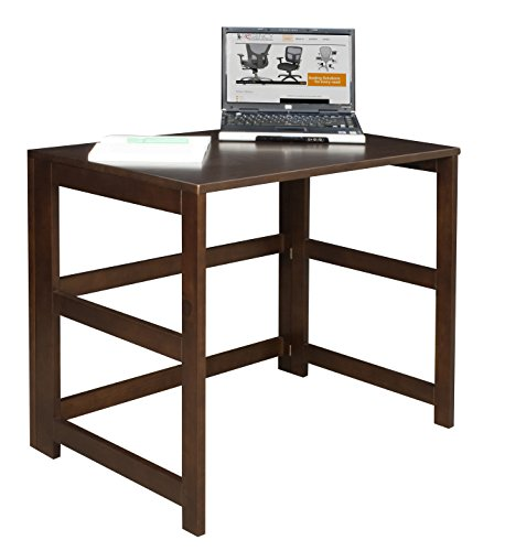 Regency Flip Flop 31-inch Folding Desk- Mocha Walnut - Office Walnut Folding Table