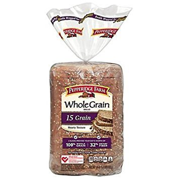 (Pepperidge Farm Whole Grain 15 Grain Bread - 24 oz. (pack of 2))