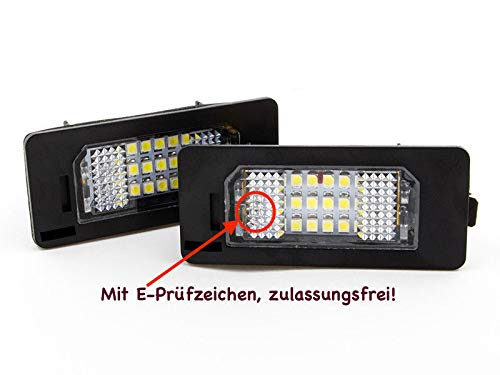 2 x Top Module 18 SMD LED Number Plate Light 135X