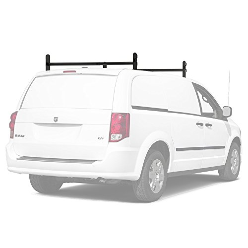 (AA-Racks Model DX36 Universal Two Bar Drilling Van Roof Rack Heavy-Duty Adjustable Steel Rack Sandy Black)