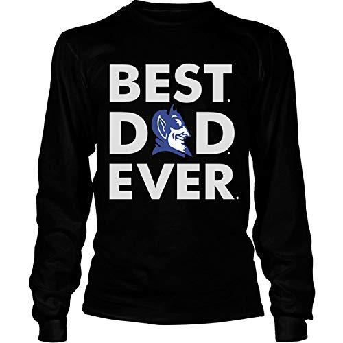 Duke Best Dad Ever T Shirt, Duke Football T Shirt - Long Sleeve Tees (L, Black)