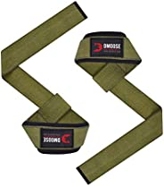 DMoose Lifting Straps for Weight Lifting, Crossfit, Bodybuilding, Powerlifting and deadlifting. Soft Neoprene