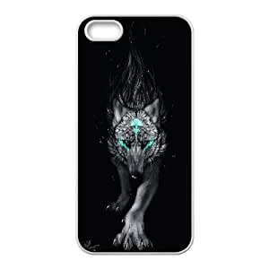 Wolf with moon,sunset series Case Cover Best For Apple Iphone 5 5S Cases FKLB-T519692