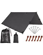 خيمة التخييم وفطيرة، قنبلة المطر الأرجوحة، 10 × 10 قدم/10 × 15 قدمًا، حقيبة ظهر قماشية مقاومة للماء، متعددة الأغراض للتخييم، مأوى طوارئ خفيف الوزن (10 × 15 قدم)