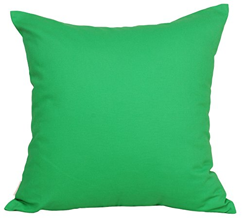 """TangDepot Cotton Solid Throw Pillow Covers, 24"""" x 24"""" , Brig"""
